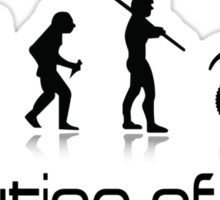 Evolution of Men- Off Road Motorcycle  Sticker