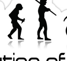Evolution of Men- Off Road Motorcycle  Sticker