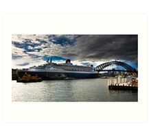 Sydney Harbour with Queen Mary 2 Art Print