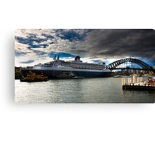 Sydney Harbour with Queen Mary 2 Canvas Print