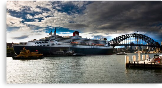 Sydney Harbour with Queen Mary 2 by miroslava