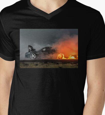 BLOWN Flamethrower Mens V-Neck T-Shirt