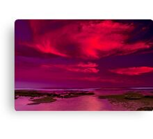 """Candy Floss Sunset"" Canvas Print"