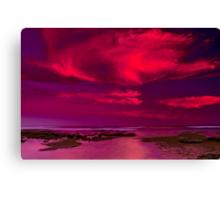 """Candy Floss Sunset"" Canvas Print"