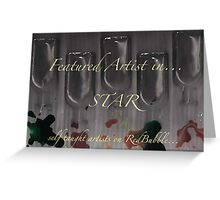 Temp...Star Group banner for featured artist..  Greeting Card