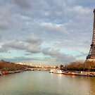 Up The Seine - Eiffel Tower View by Mark Tisdale