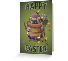 Happy Easter (Card) Chicks causing trouble. Greeting Card