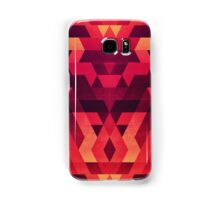 Abstract  geometric triangle texture pattern design in diabolic future red Samsung Galaxy Case/Skin