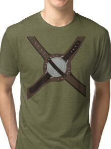 DragonBorn Studded Iron Cuirass Tri-blend T-Shirt