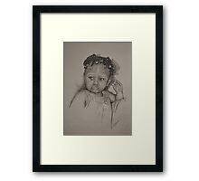 Little Miss - B&W Framed Print
