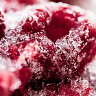 Frozen raspberries by Darren Sharp