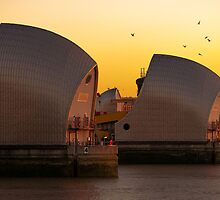 Thames Barrier, London by Darren Sharp