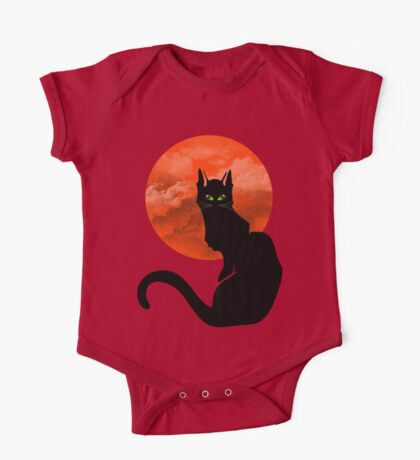 RED MOON CAT One Piece - Short Sleeve