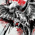 Demon Bird iPhone cover by beanarts