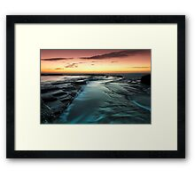 Flowing Down Framed Print