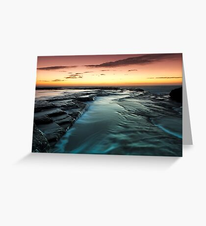 Flowing Down Greeting Card