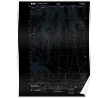 USGS Topo Map Oregon OR Flora 20110808 TM Inverted Poster