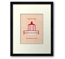Welcome to Summer's End Framed Print
