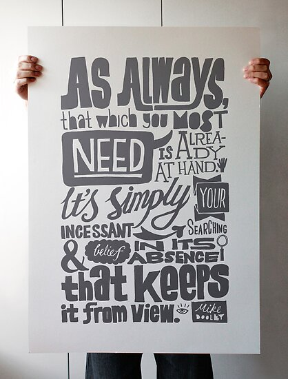 Typography: As Always by Steve Leadbeater