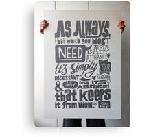 As Always... Canvas Print
