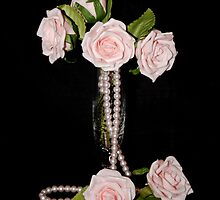Pink Roses in Vase by AnnDixon