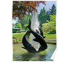 Fountain in Butchart Gardens, BC, Canada Poster