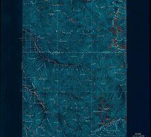 USGS Topo Map Washington State WA Glacier Peak 241294 1899 125000 Inverted by wetdryvac
