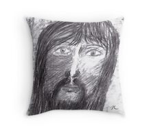 Portrait in Carcoal Throw Pillow