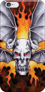 Flying Demon2 iPhone cover by beanarts