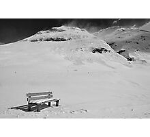 Snow Bench and Wengahorn Photographic Print