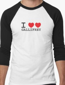 I Heart Heart Gallifrey Men's Baseball ¾ T-Shirt