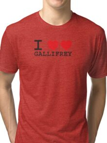 I Heart Heart Gallifrey Tri-blend T-Shirt