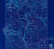 USGS Topo Map Washington State WA Mount Adams 242457 1907 125000 Inverted by wetdryvac