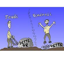 Caricature infos Options Binaires - Dette Grec Photographic Print