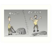 Binary Options Editorial Cartoon Greek Debt Update Art Print