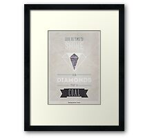 Diamonds & Coal Framed Print