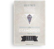 Diamonds & Coal Metal Print