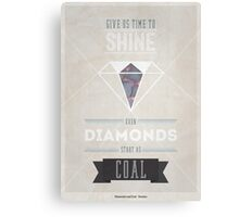 Diamonds & Coal Canvas Print