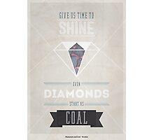 Diamonds & Coal Photographic Print