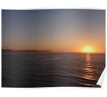 Sierra Madre with Sunset - Puesta del Sol con la Sierra Madre Poster