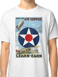 Join The Air Service WW2 War Vintage Advertisement Classic T-Shirt