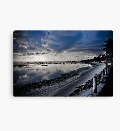 Deserted beach at dawn Canvas Print