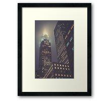 Chrysler at Night, Study 1 Framed Print