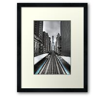 Trumped Tracks. Framed Print