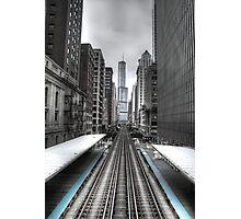 Trumped Tracks. Photographic Print