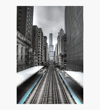 Trumped Tracks. Photographic Print