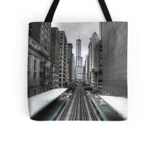 Trumped Tracks. Tote Bag