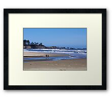 Oregon's Beautiful Southern Beach  Framed Print