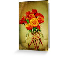 Roses and Textures Greeting Card