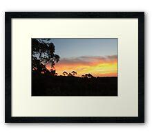 Mount Canobolas Sunset Framed Print